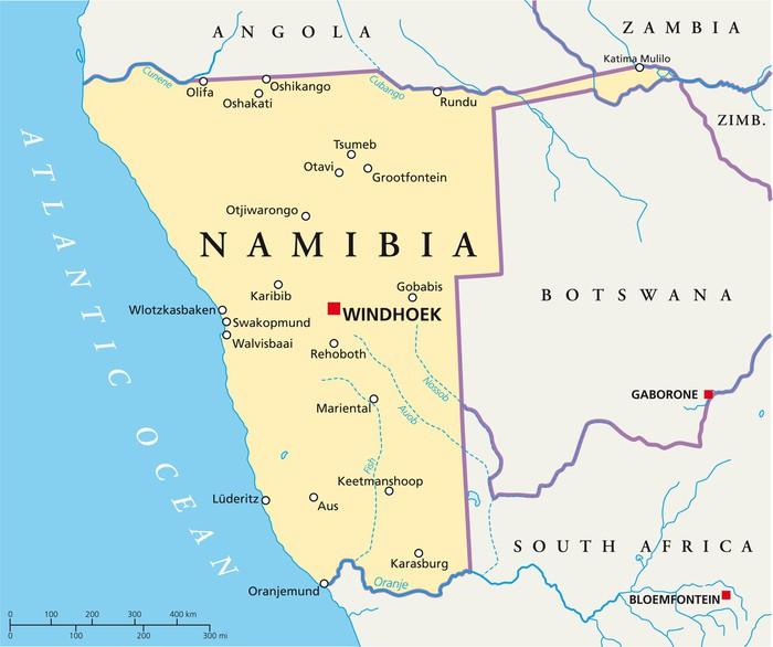 namibia landkarte Namibia map (Namibia Landkarte) Sticker • Pixers® • We live to change namibia landkarte