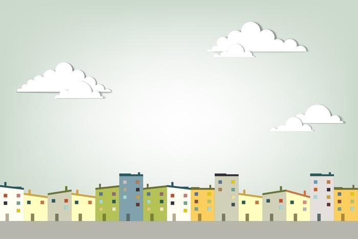 Vinylová Tapeta Panorama města - Město