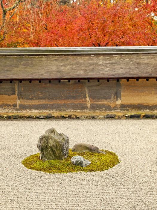 Vinylová Tapeta Slavná rocková zahrada Ryoan-ji Temple, Kyoto - Asie
