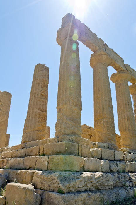 Vinylová fototapeta Temple of Juno - Údolí chrámů, Agrigento na Sicílii - Vinylová fototapeta