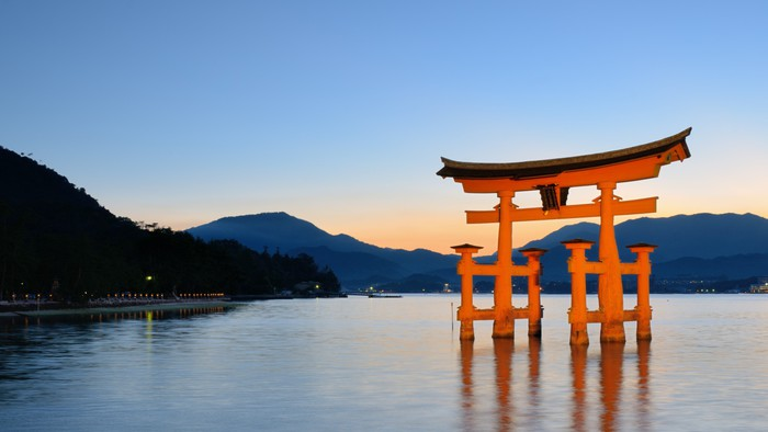Nálepka Pixerstick Japonská Známý Miyajima Gate Hiroshima Prefecture - Asie