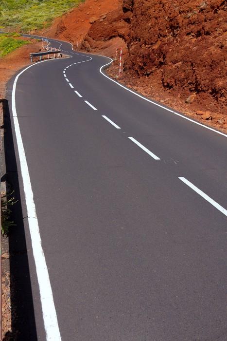 Carta da parati isole canarie tortuose curve della strada for Carta da parati per casa in montagna