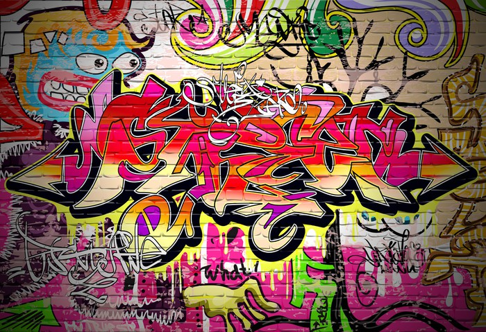 Graffiti Art Vector Background Wall Mural Pixers We live to change