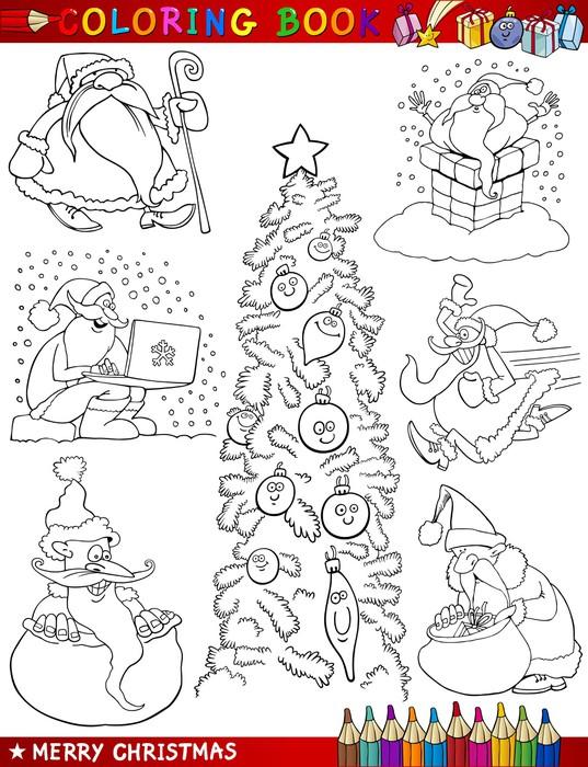 Vinilo Pixerstick Cartoon Temas de Navidad para colorear • Pixers ...