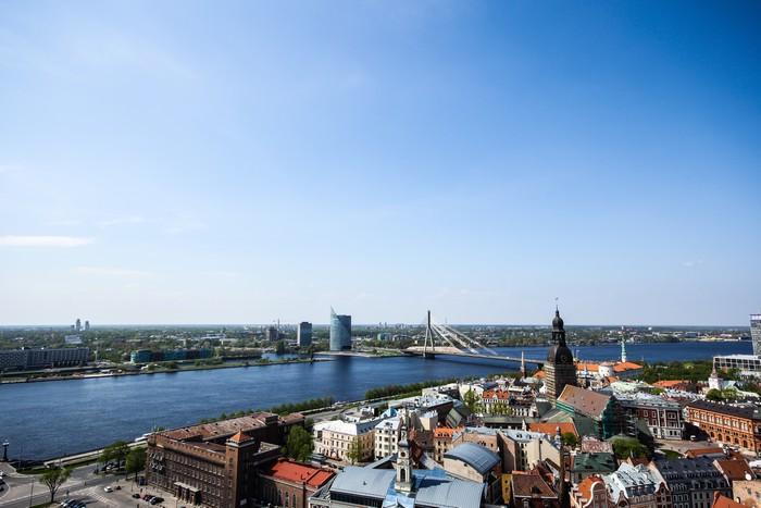 Vinylová Tapeta Riga City View - Město