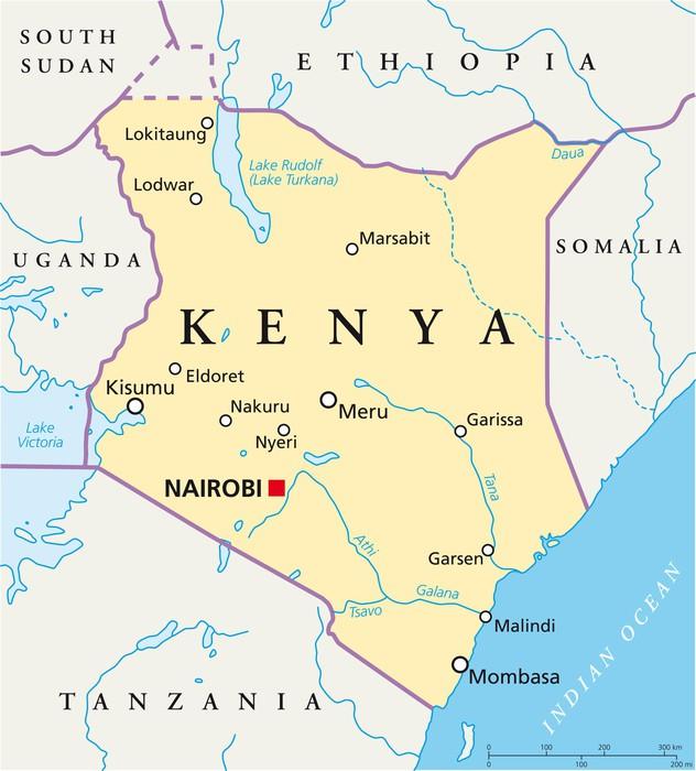 kenya karta Dekor Kenya karta (Kenia Landkarte) • Pixers®   Vi lever för  kenya karta