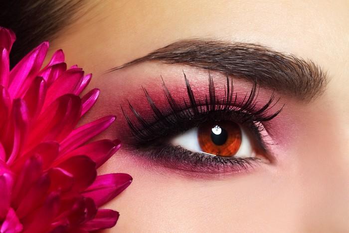 Vinylová Tapeta Krásné oční make-up s Aster Květiny - Témata
