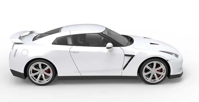 Vinylová Tapeta Bílé sportovní auto 2 - Na cestě