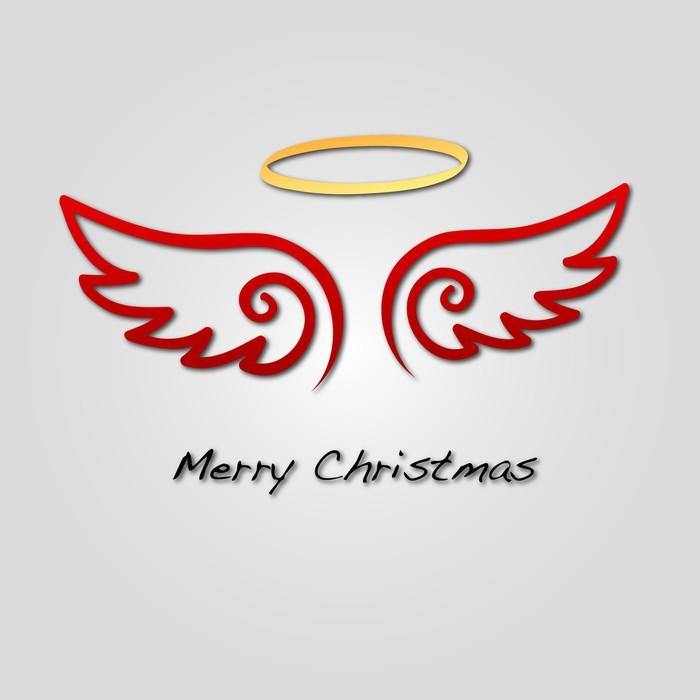 Vinylová Tapeta Merry Christmas Engel Flügel - Mezinárodní svátky