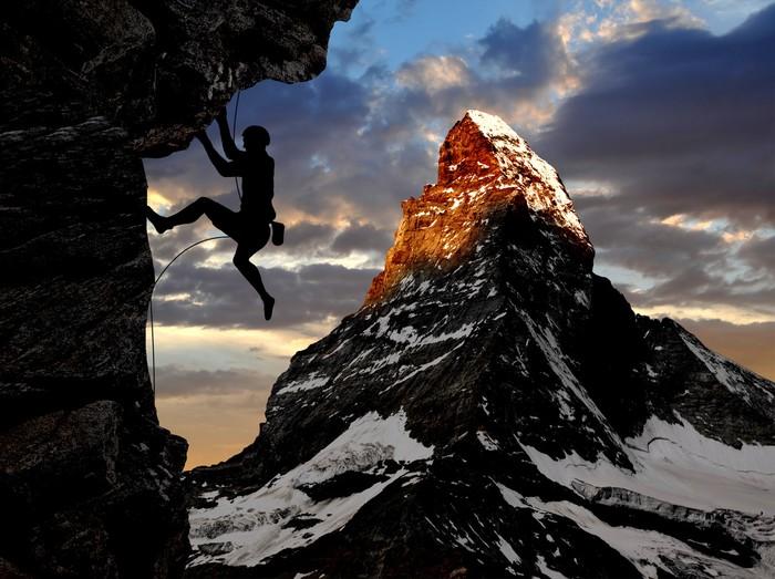 fototapete bergsteiger in den schweizer alpen pixers wir leben um zu ver ndern. Black Bedroom Furniture Sets. Home Design Ideas