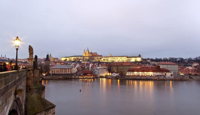 Vinylová Tapeta Panorama Prahy - Evropská města