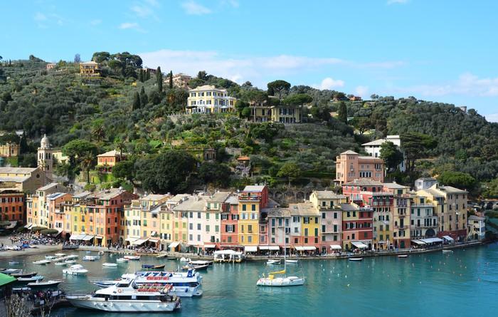 Vinylová Tapeta Portofino, Itálie - Soukromé budovy