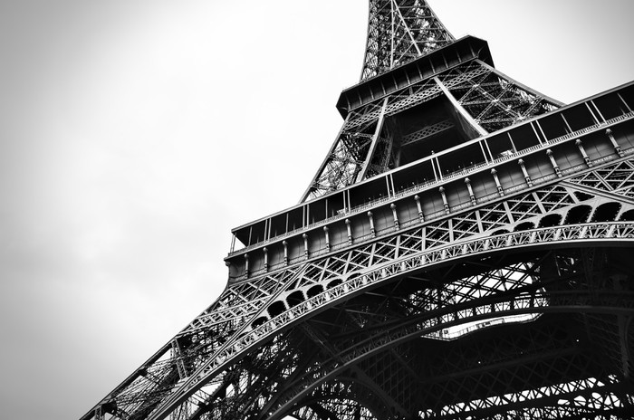 Eiffel tower black and white beauty wall mural pixers for Eiffel tower wall mural black and white