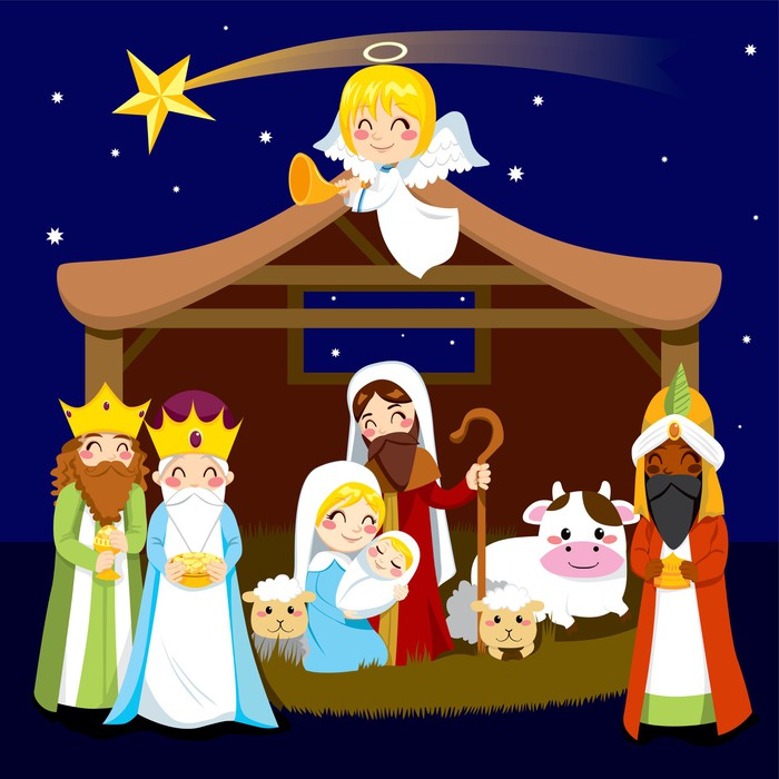 Christmas Nativity Scene Wall Mural   Vinyl   Christmas Part 34