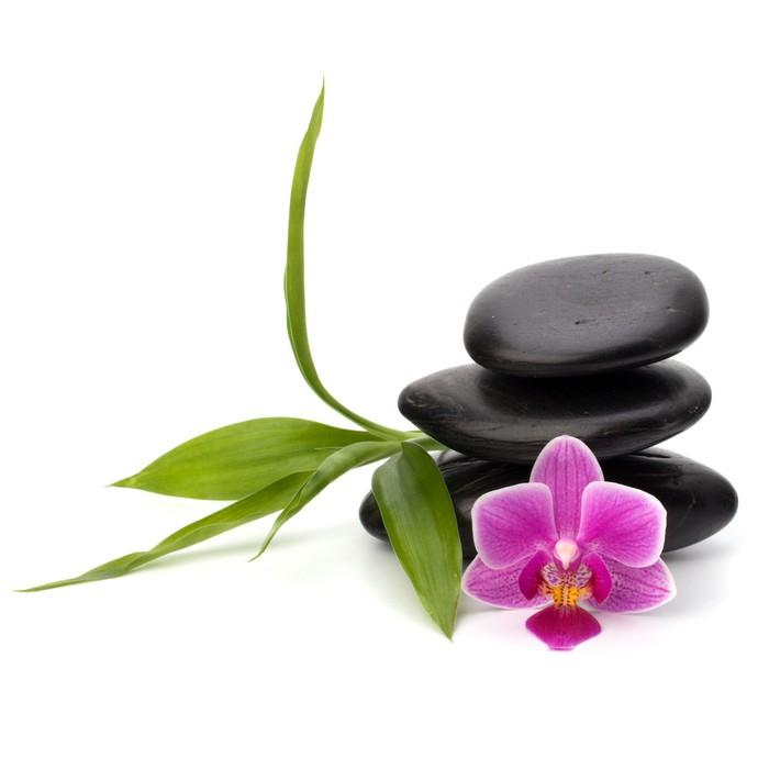 tableau sur toile zen quilibre de cailloux spa et le concept de soins de sant pixers. Black Bedroom Furniture Sets. Home Design Ideas