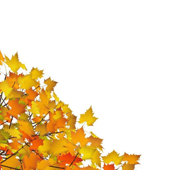 Herbst, Blätter, Ecke, Dekoration, Vorlage, Herbstblätter, Gelb ...
