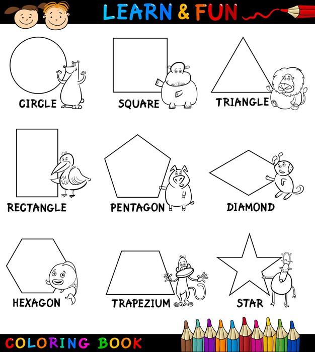 Vinilo Pixerstick Formas básicas con Animales para Colorear • Pixers ...