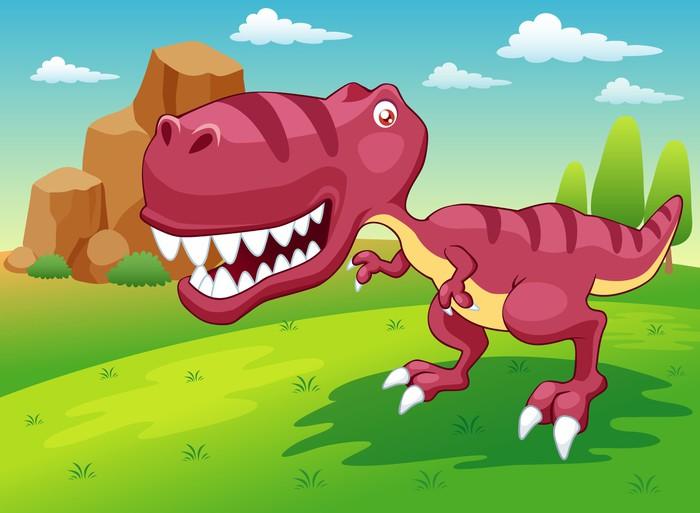 Vinylová Tapeta Ilustrace kreslené dinosaur vektoru - Témata
