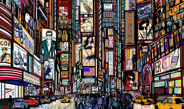 street in New York city Wall Mural - Vinyl - Themes