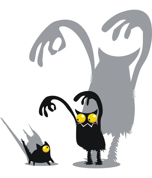Sticker Pixerstick Monster et chat -