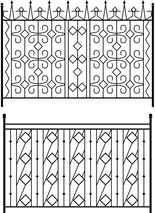 Vinylová Tapeta Kované železné brány, vrata, oplocení, okna, Gril, zábradlí konstrukce -