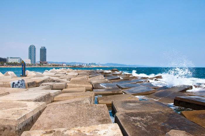 Vinylová Tapeta Barceloneta pláž. Barcelona, Španělsko. - Evropská města