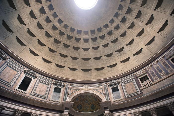 Vinylová Tapeta Vnitřní pohled na kopuli Pantheonu v Římě, Itálie. - Evropská města