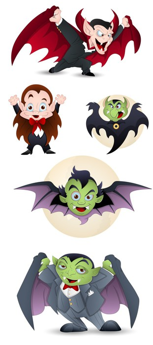 Collection of Cartoon Dracula and Vampires Wall Mural • Pixers® • We ...