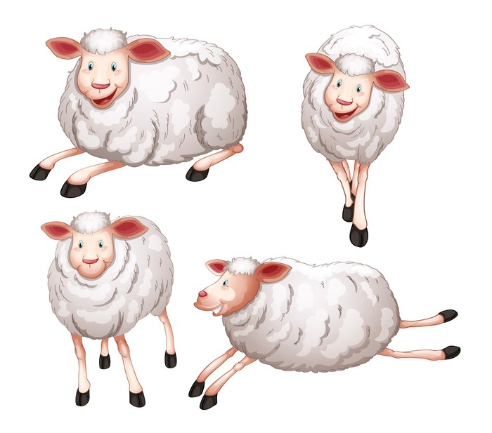 Sticker Pixerstick Sheeps -