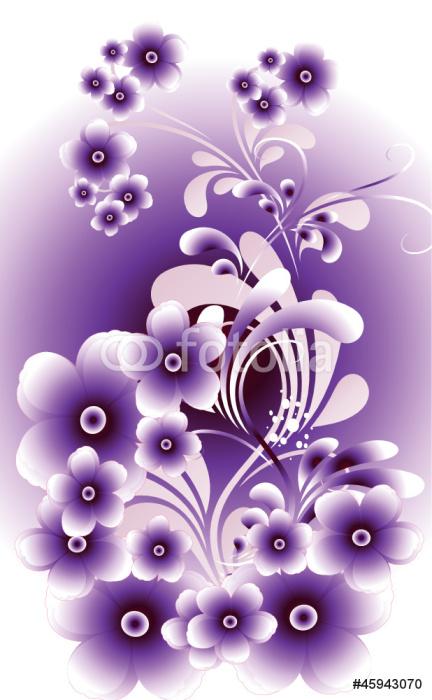 Sticker Pixerstick Violet et lueurs - Plantes