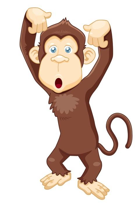 Carta da parati illustrazione di vettore scimmia cartone