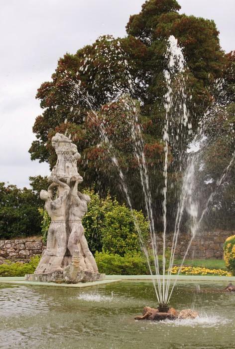 Vinylová Tapeta Vigo hrad Botanické zahrady - Evropa