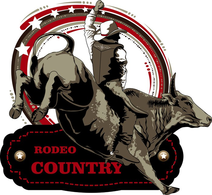 Vinylová Tapeta Rodeio - Individuální sporty