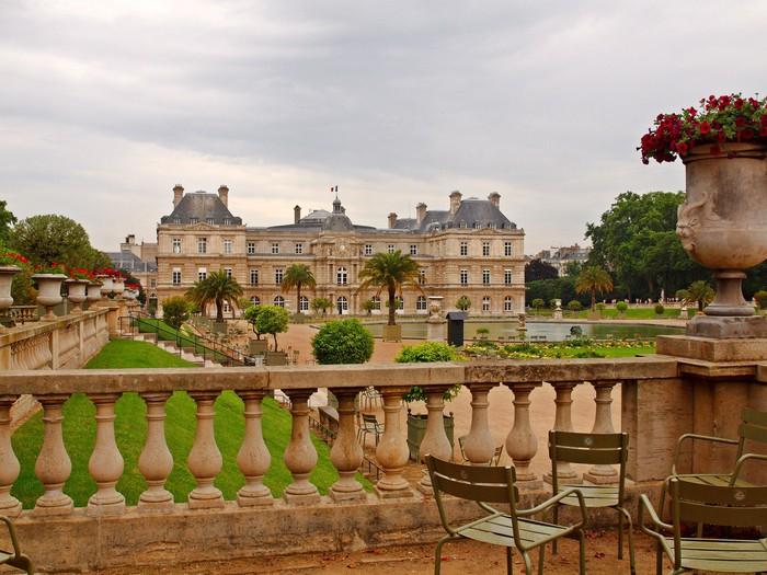 Vinilo pixerstick parque en par s palacio jard n de for Jardines de luxemburgo paris