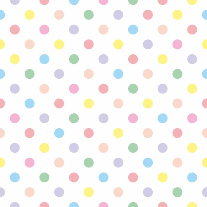 Papier Peint Vinyle Vector Seamless fond pastel pois colorés - Thèmes