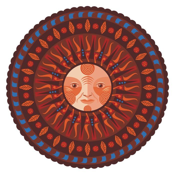 Vinylová Tapeta Dekorativní Fall Mandala - Nálepka na stěny