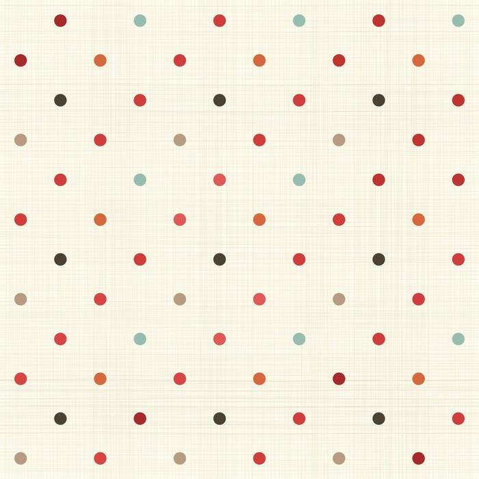 Carta da parati colorato pois seamless su tessuto pixers for Carta da parati in tessuto