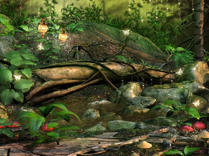 Fototapete zauberwald  Fototapete Baum im Zauberwald • Pixers® - Wir leben, um zu verändern