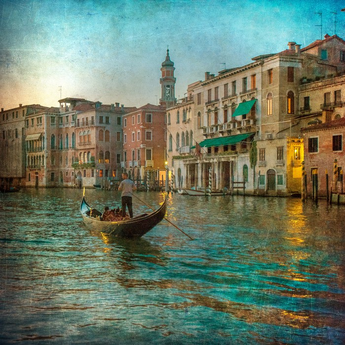fototapete vintage bild von grand canal venedig pixers wir leben um zu ver ndern. Black Bedroom Furniture Sets. Home Design Ideas