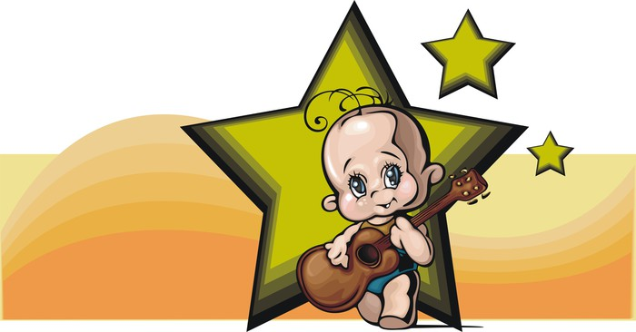 Cute Baby z gitarą