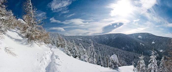 Vinylová Tapeta Zimní panorama - Evropa