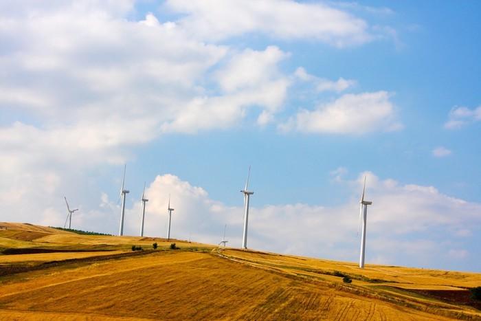 Vinylová Tapeta Panorama s větrnými generátory - Elektronika