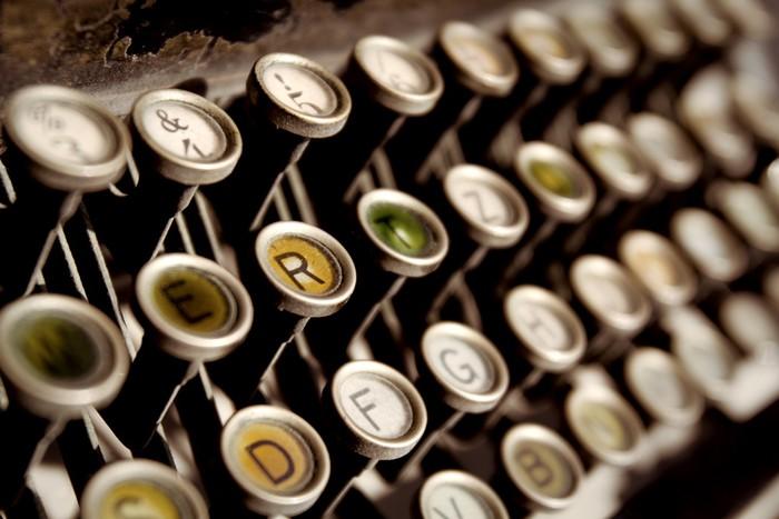 Tableau sur Toile Machine à écrire - Maisons et jardins