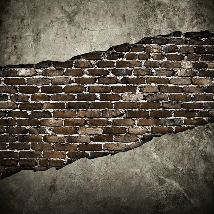 tableau sur toile mur fissur pixers nous vivons pour changer. Black Bedroom Furniture Sets. Home Design Ideas