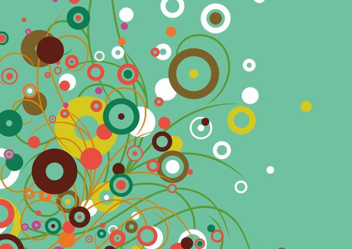 Vinylová Tapeta Grafický vzor - Rostliny