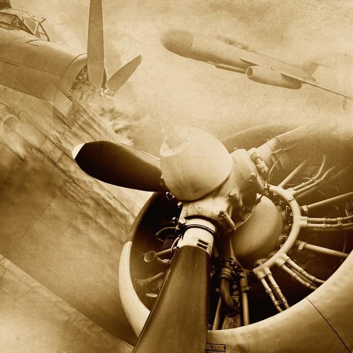 Nálepka Pixerstick Retro letectví, vintage pozadí -