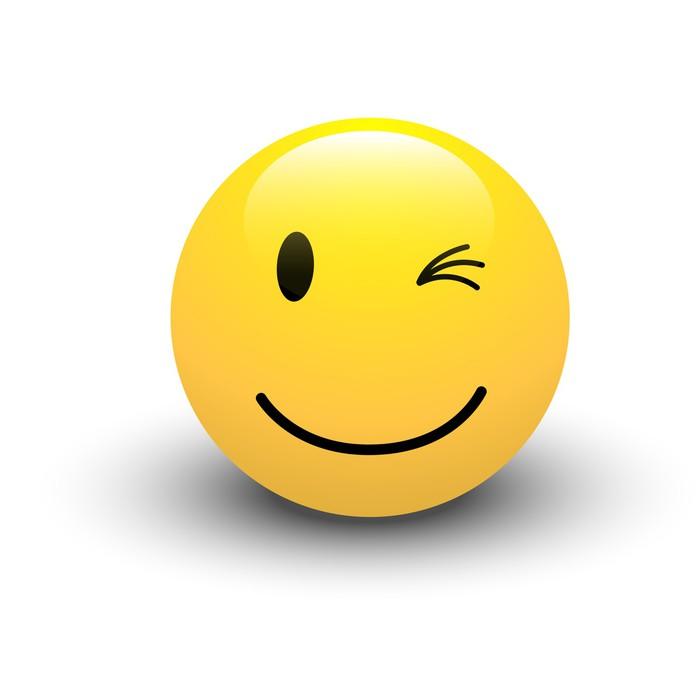 Vinilo Pixerstick Guiño de smiley Vector • Pixers® - Vivimos para cambiar