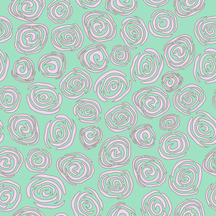 Roses seamless pattern vector eps8 wall mural pixers for Mural vector