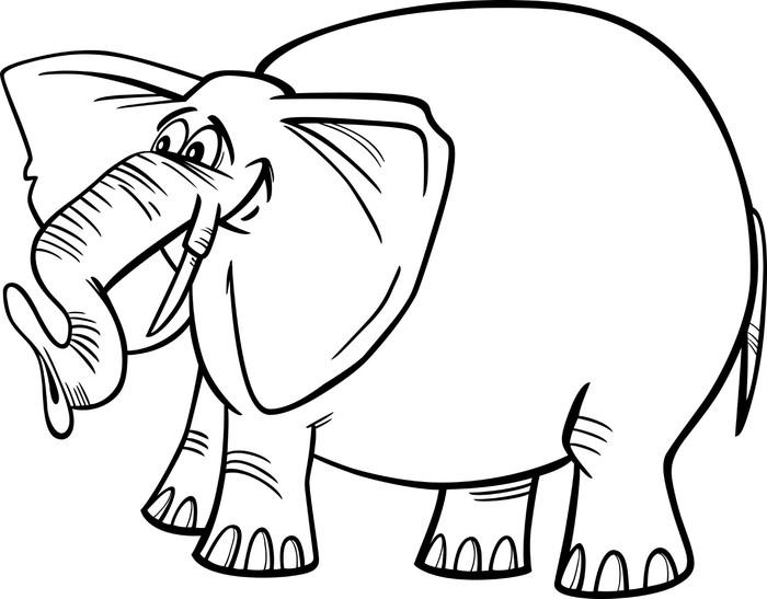 Vinilo Pixerstick Ilustración de dibujos animados de elefantes para ...