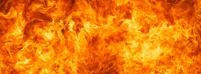 Blaze Fire Flame Texture Background Wall Mural Pixers